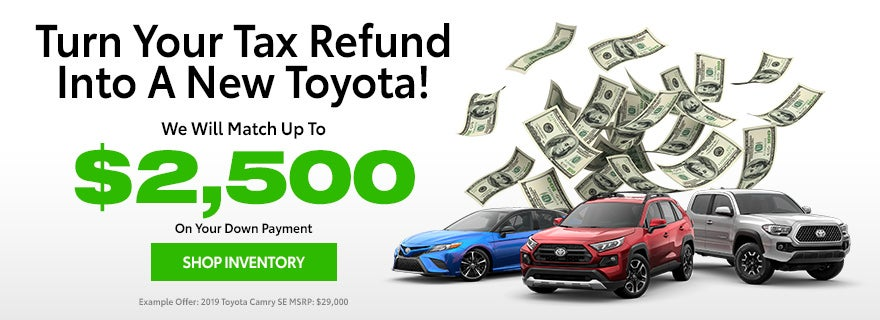 A New Toyota With Your Tax Refund
